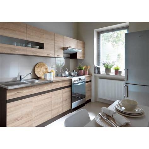 plan de travail cuisine 3m50 junona cuisine complète 2m40 avec éclairage led décor