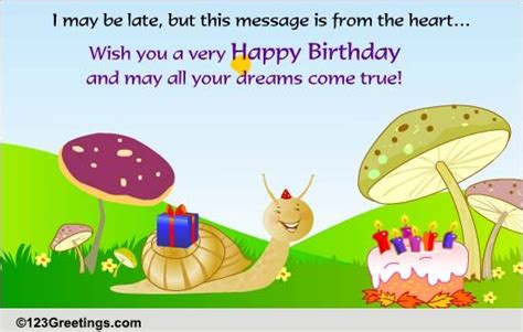 late  belated birthday wishes ecards greeting cards