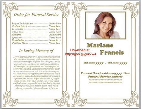 Free Memorial Templates by 79 Best Images About Funeral Program Templates For Ms Word