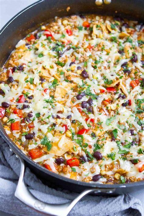 1 pound of uncooked ground turkey breast. Ground Turkey Enchilada Skillet Meal | Recipe | Healthy one pot meals, Turkey enchiladas, Meals