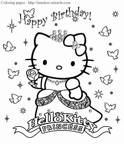 Kitty Coloring Hello Princess Miracle Timeless 10th