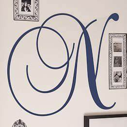 decals removable wall decals and removable wall on pinterest With cursive letter stickers for wall
