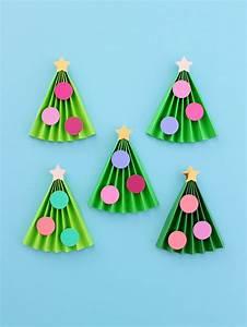 5, Minute, Kids, Accordion, Christmas, Tree, Craft