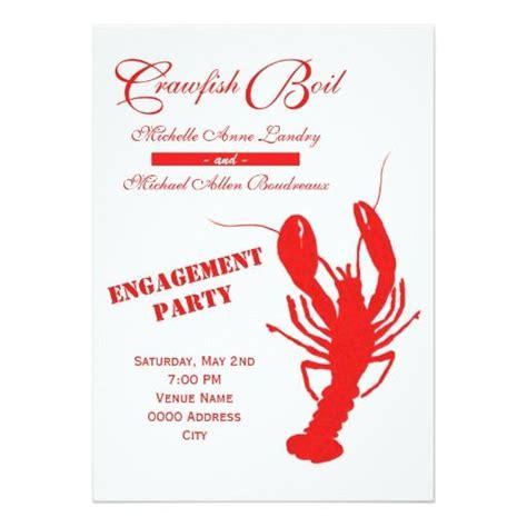 crawfish boil engagement party invitation zazzlecom