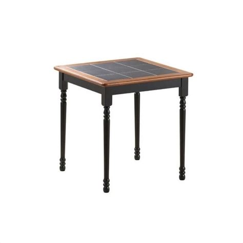 black square kitchen table 30 quot x 30 quot square wood dining table in black and cherry 70005