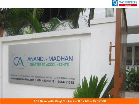 acp signs aluminium composite panel signage acp signage board