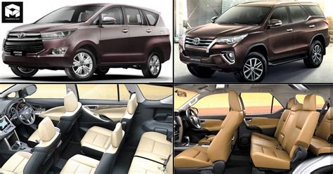 toyota innova fortuner  updated interior  india