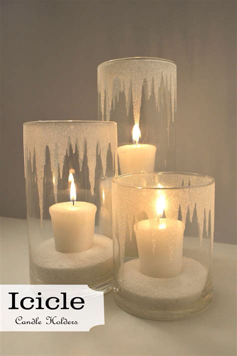 Decorating Ideas Glass Candle Holders by Iced Candle Holders Epsom Salt Crystals Inside And