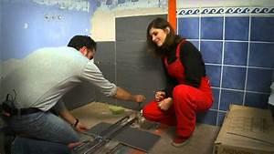 poser de la faience dans une salle de bain youtube With pose de faience dans une salle de bain