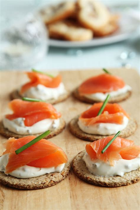appetizer canape smoked salmon canapes free stock photo domain