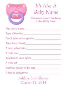 Z Baby Shower Game