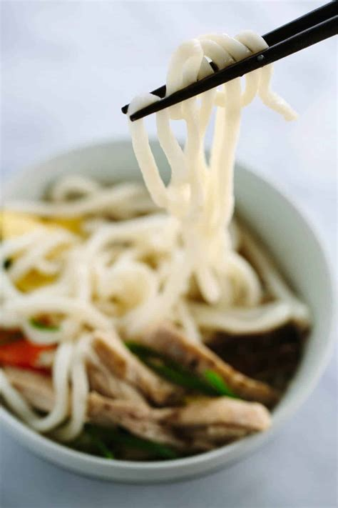 japanese chicken udon soup recipe  bok choy jessica