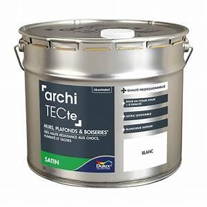 Peinture à L Huile Mur : peinture blanche mur plafond et boiserie architecte dulux ~ Premium-room.com Idées de Décoration