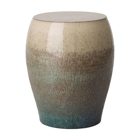 seiji ceramic asian bayside green garden stool