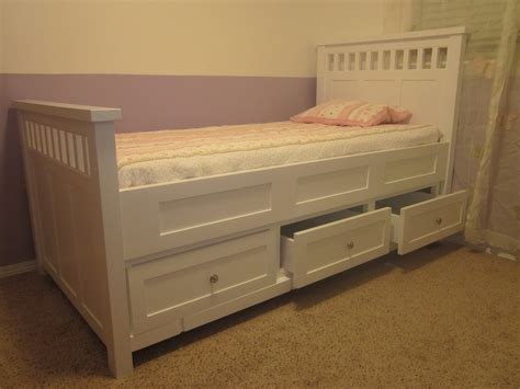 Bed With Drawers by Ideas Bed With Storage The Home Redesign