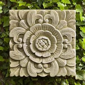 Campania international square eden cast stone outdoor wall