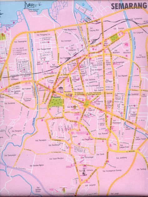takjub indonesia peta kota semarang