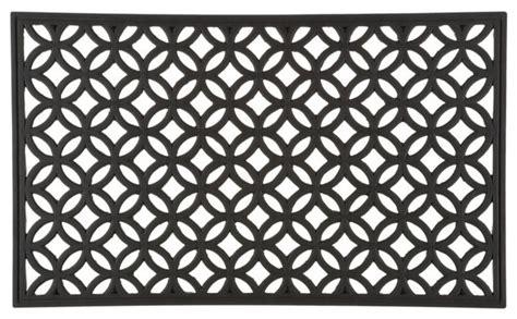 modern doormat circles rubber doormat modern doormats by crate barrel