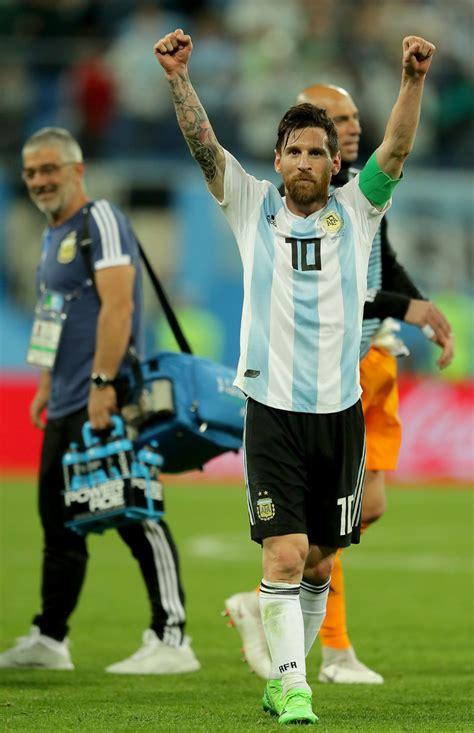 Lionel Messi Photos Nigeria Argentina Group