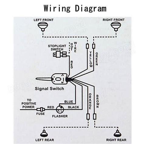 chrome 12v universal rod turn signal switch for