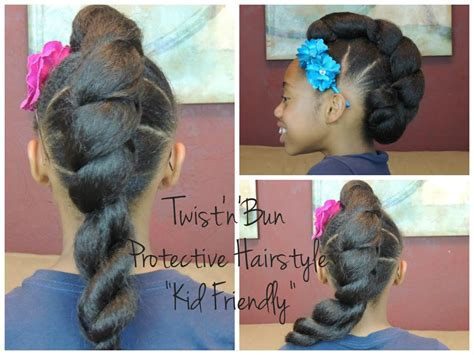 Twist'n'bun Protective Hairstyle (kid Friendly)