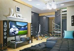 cool-basement-entertainment-with-gym
