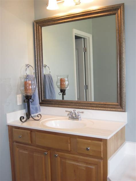 Framing An Existing Bathroom Mirror by How To Frame Existing Bathroom Mirrors Lyn At Home