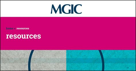 Maybe you would like to learn more about one of these? Mortgage industry resources from MGIC