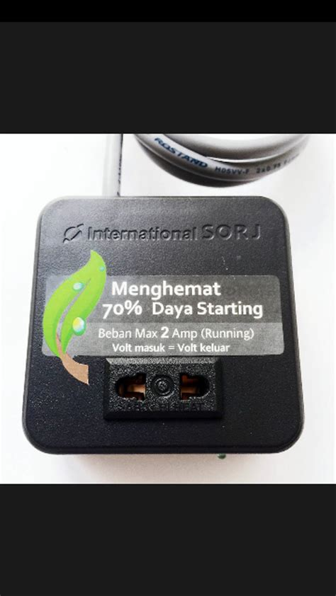 jual starting energy saver penghemat listrik soft start anti jeglek 440w international sorj di