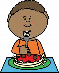 Boy Eating Spaghetti Clip Art - Boy Eating Spaghetti Image