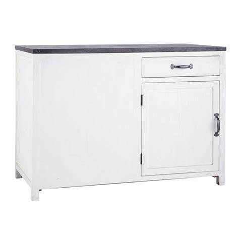 meuble bas 120 cm cuisine meuble bas de cuisine ouverture gauche en bois recyclé