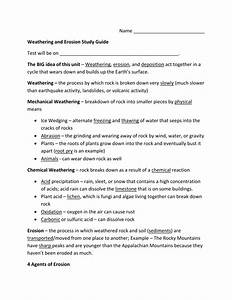 Weathering And Erosion Study Guide