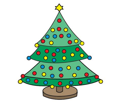 how to draw christmas tree how to draw a tree easy step by step drawing guides