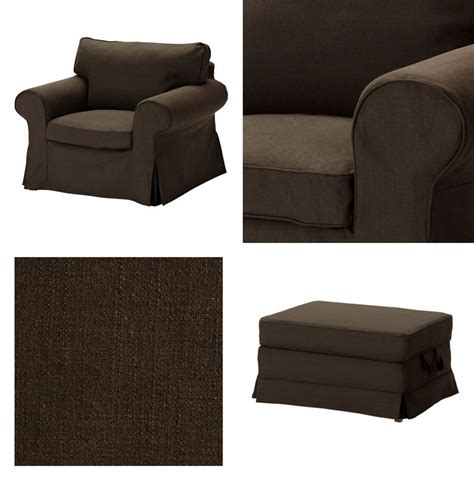 slipcover for chair and ottoman ikea ektorp armchair and bromma footstool cover chair
