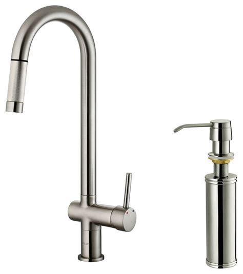 stainless steel kitchen faucet with pull spray vigo stainless steel pull out spray kitchen faucet with