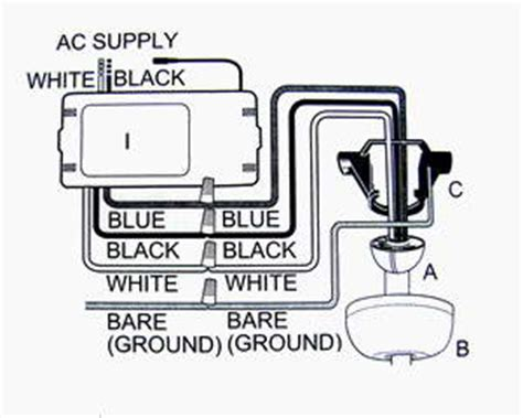 harbor ceiling fan wiring diagram remote typical ceiling remote wired shown wiring