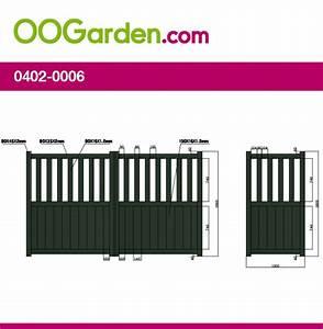 Portail 3 Metres : portail aluminium double battants bendigo 3 m tres ~ Premium-room.com Idées de Décoration