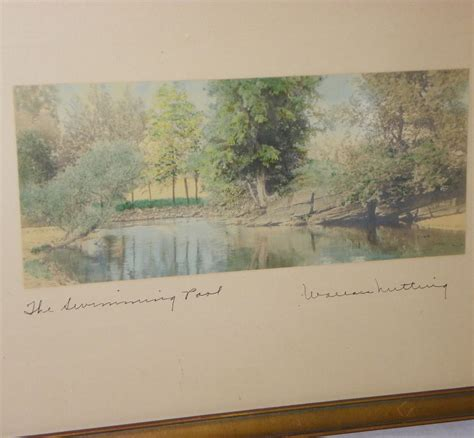 bargain johns antiques antique wallace nutting  swimming pool print bargain johns