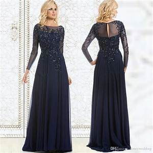 modest navy blue plus size dresses evening wear long With plus size long dresses for weddings