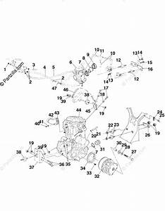 Polaris Atv 1999 Oem Parts Diagram For Engine Mounting A99ch50eb