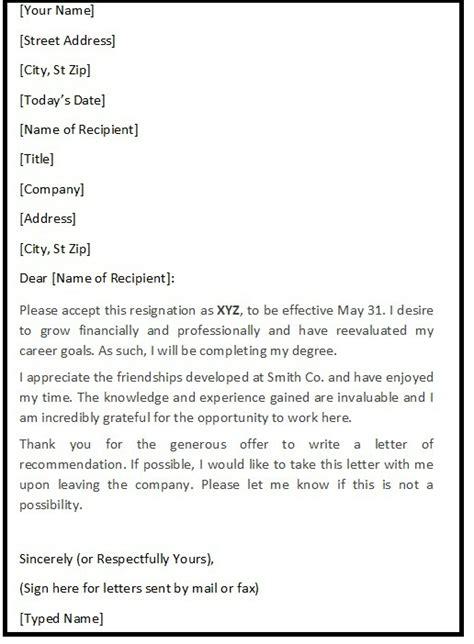 polite resignation letter sample resignation letters sample