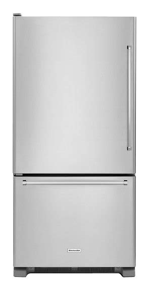 Kitchenaid Refrigerator Tech Support by Kitchenaid 18 7 Cu Ft Bottom Freezer Refrigerator Silver