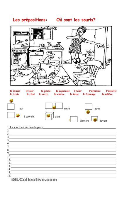 les prepositions le francais