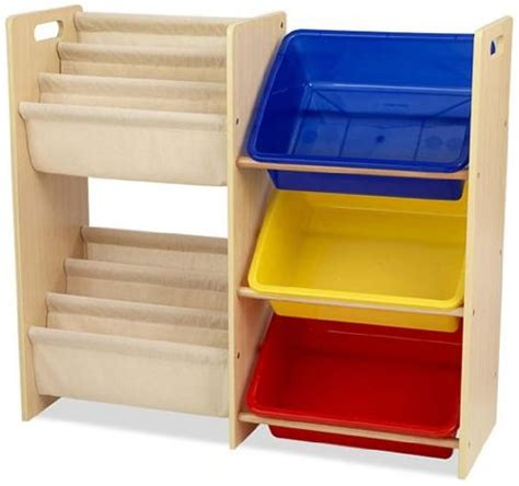 bookcase and toy storage buy kidkraft wooden sling bookcase with primary bins