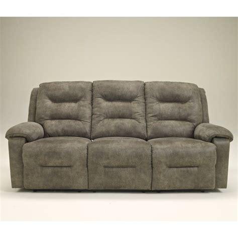 ashley furniture microfiber sofa signature design by furniture rotation microfiber reclining sofa in smoke 9750188