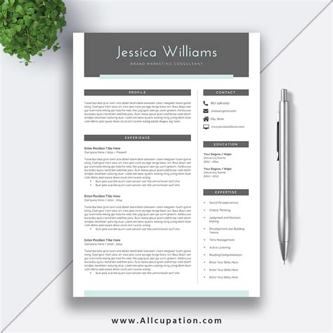 Sle Resume Template by Creative And Beautiful Resume Template With Cover Letter