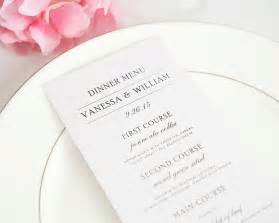 wedding invitation stationery simple elegance wedding menus wedding menus by shine
