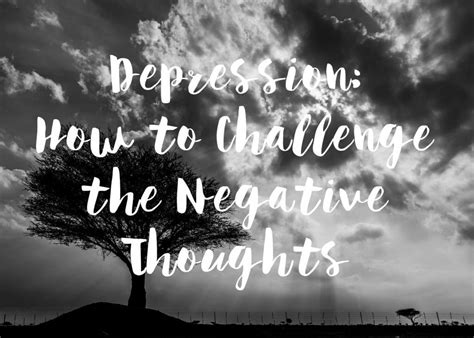 The Blurt Foundation Depression: How to Challenge the ...