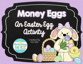 easter money eggs  images fun math centers easter