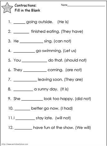 Contractions Worksheet 2 Worksheets  Education Ideas  Pinterest  Worksheets, Contraction